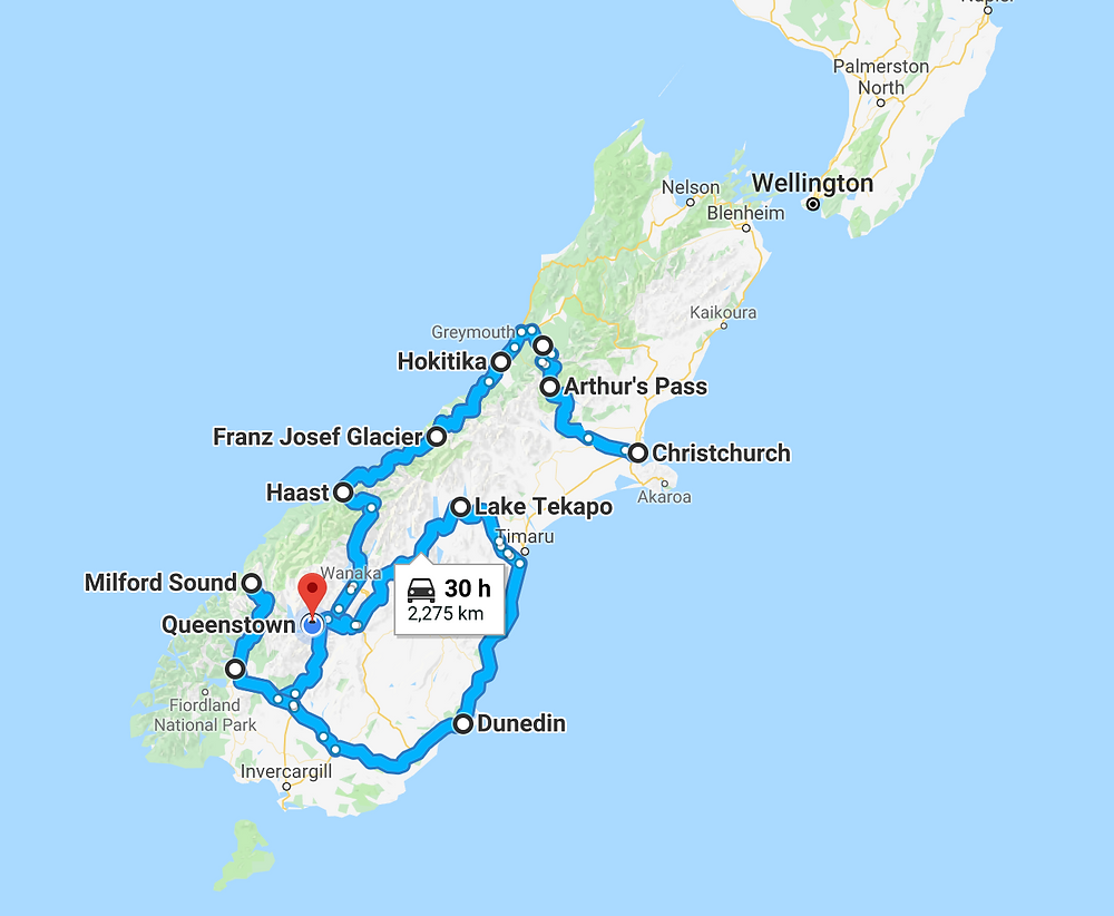 New Zealand South Island 14 Day Road Trip