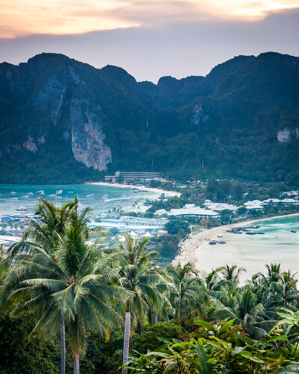 Koh Phi Phi View Point, Thailand, Sunset