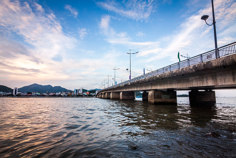 Cai River and Tran Phu Bridge At Sunset, Nha Trang, Vietnam