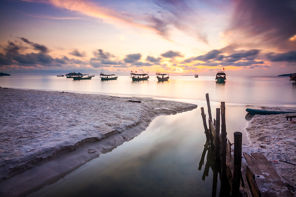 Koh Rong Island, Cambodia at Sunrise