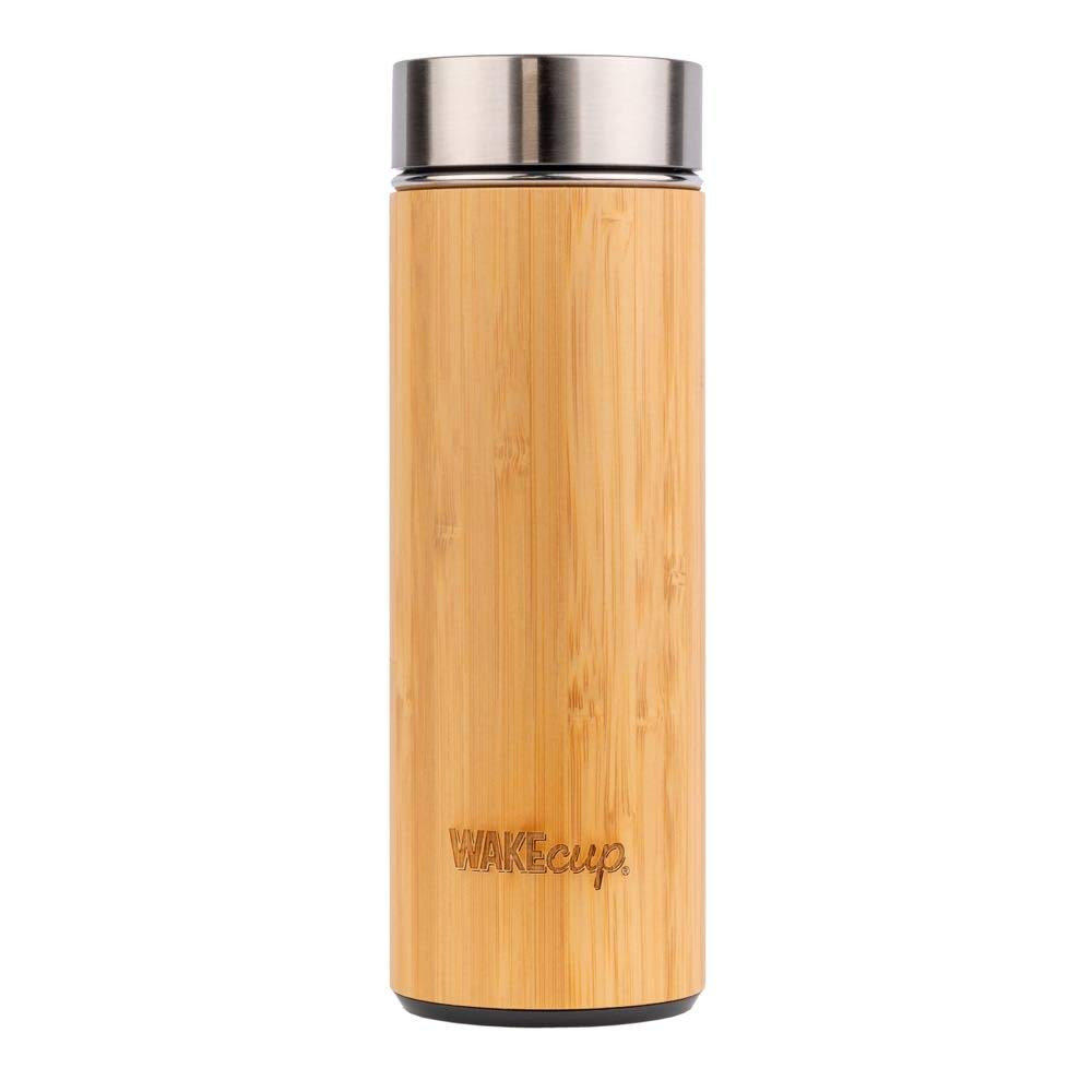 Wakecup Reusable Refillable Stainless Steel Bamboo Water Bottle Coffee Tea Flask Eco Friendly Ethical Sustainable Natural Zero Waste Plastic Free
