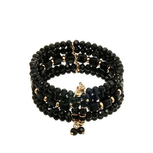 Gold Black Beads
