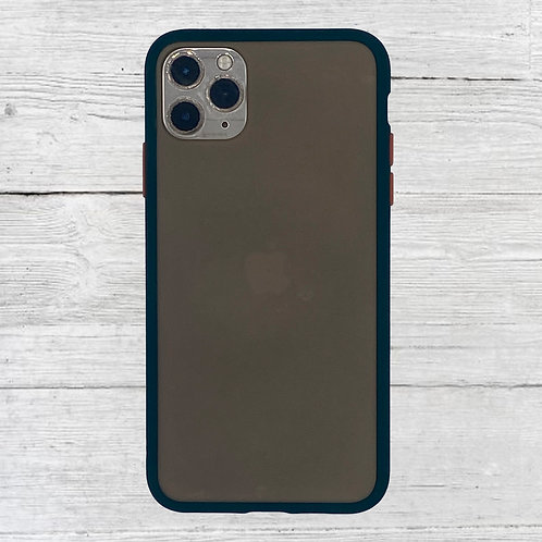Navy Blue Clear iPhone Case