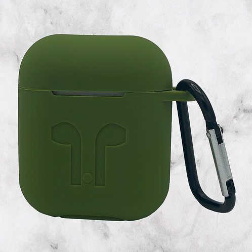 Green Silicone AirPods Case