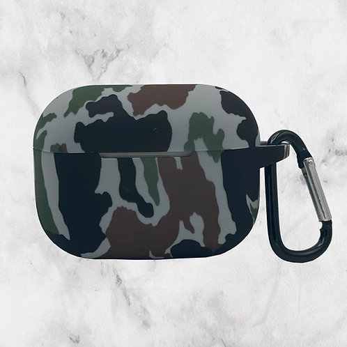 Brown Camouflage Silicone AirPods Pro Case