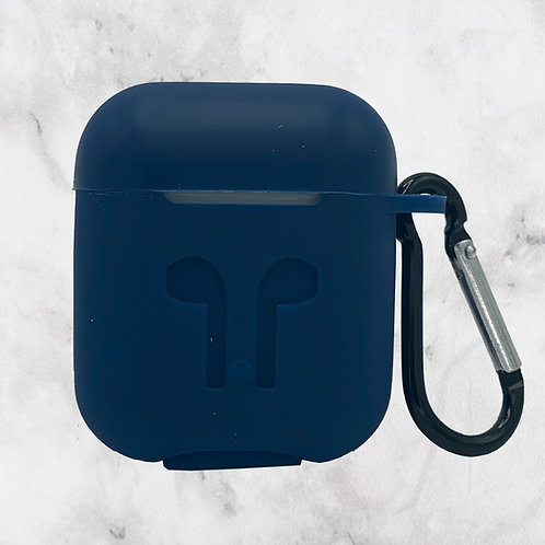 Blue Silicone AirPods Case