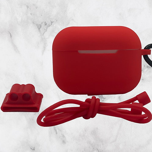 Red Silicone AirPods Pro Case