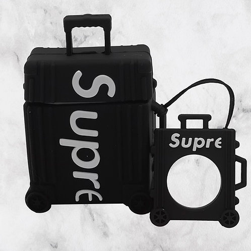 Black Luggage AirPods Case