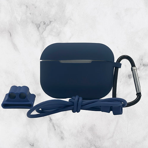 Blue Silicone AirPods Pro Case
