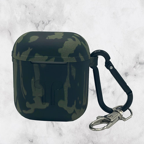 Green Camouflage Silicone AirPods Case