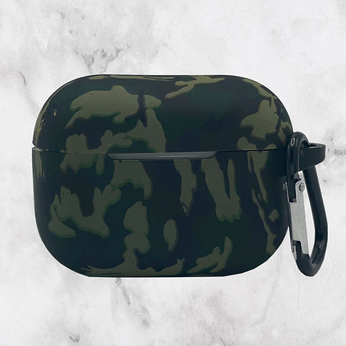 Green Camouflage Silicone AirPods Pro Case