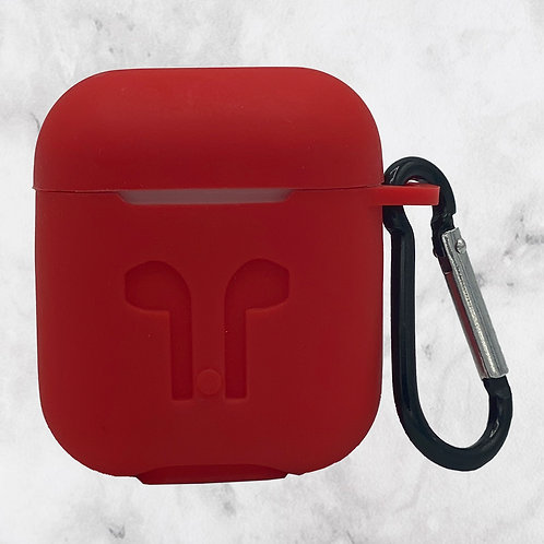 Red Silicone AirPods Case