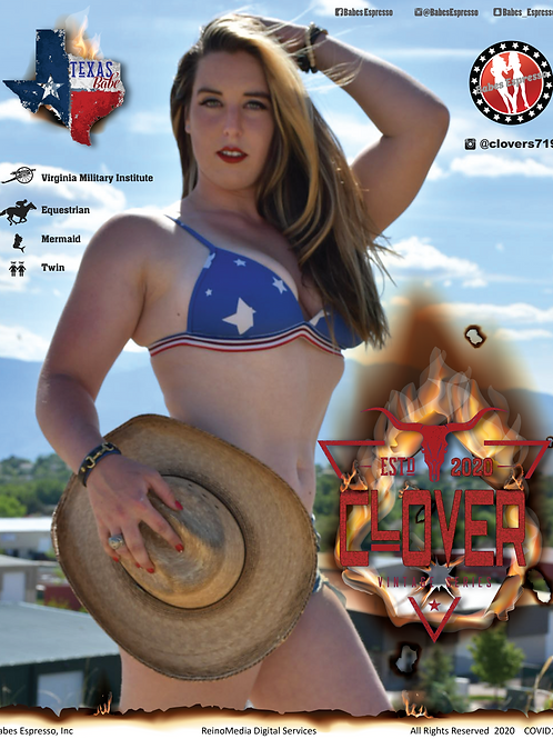 Clover Babe of the Month BOTM Poster 11x14