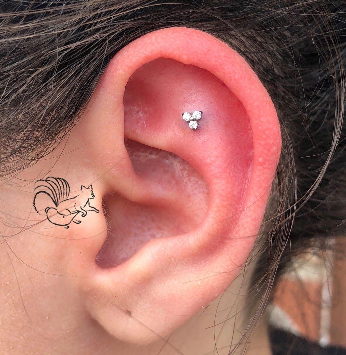Inner Helix/Flat Piercing