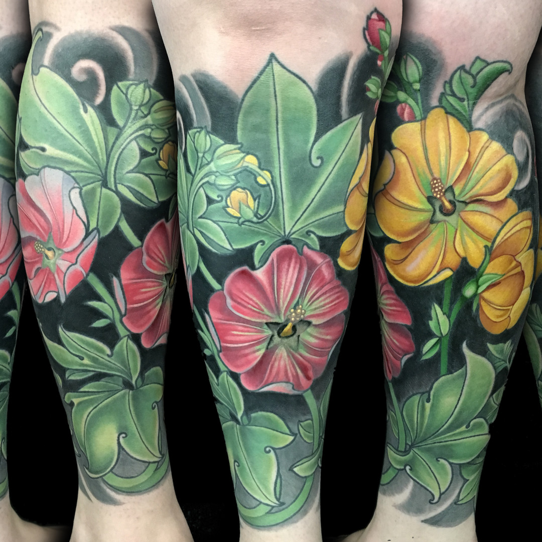 Flower Half Leg Sleeve Tatoo.jpg
