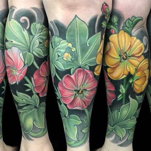 Flower Half Leg Sleeve Tatoo.jpg