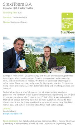2013 - Stexfibers Hemp for high Quality textiles