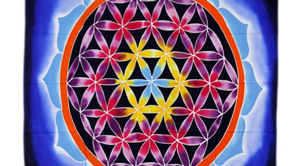 Flower of Life and Love 107x103cm