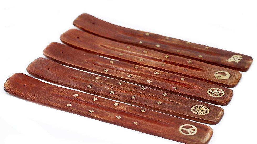 Brass Inlaid Ashcatcher - Mango Wood