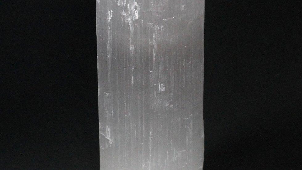 Selenite Cylinder Candle Holder - 20 cm