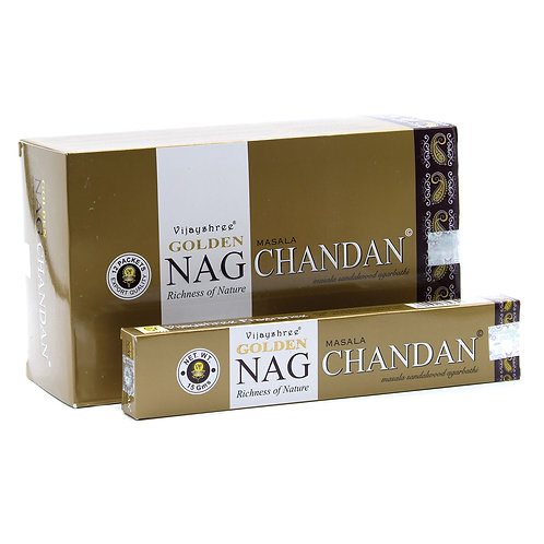 15g Golden Nag - Chandan Incense
