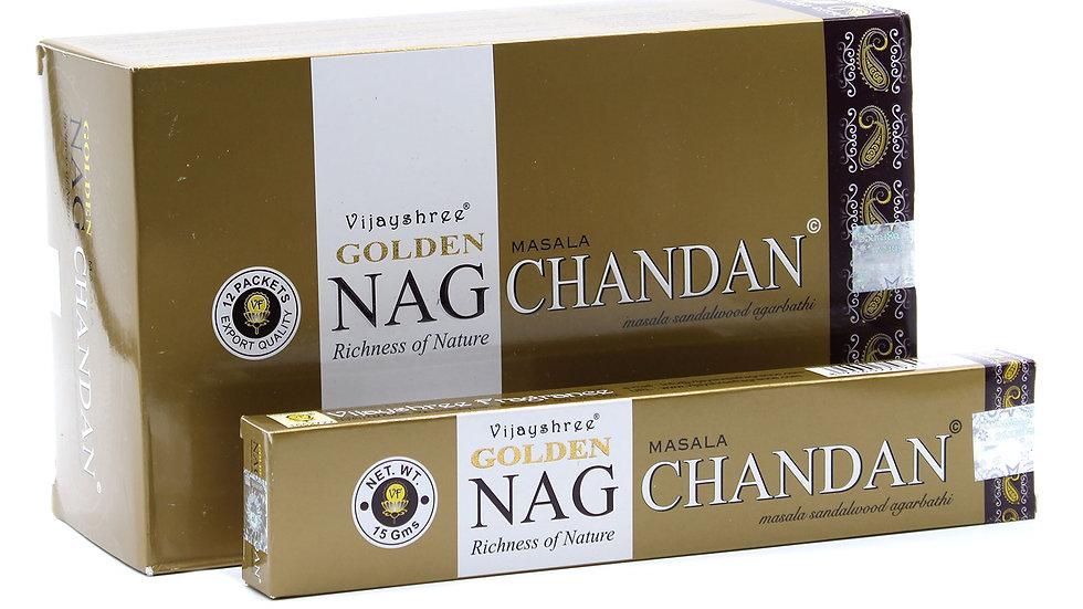 15g Golden Nag - Chandan Incense