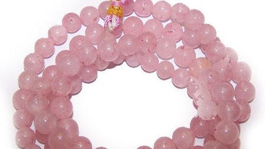 108 Bead Mala - Rose Quartz