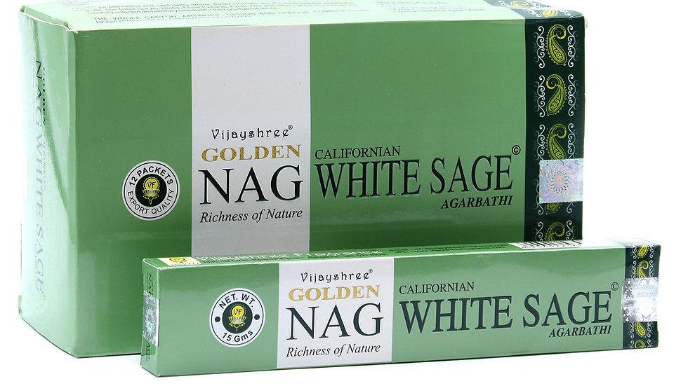 15g Golden Nag - White Sage Incense