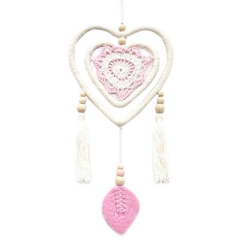 Dream Catcher - Medium Pink Heart in Heart