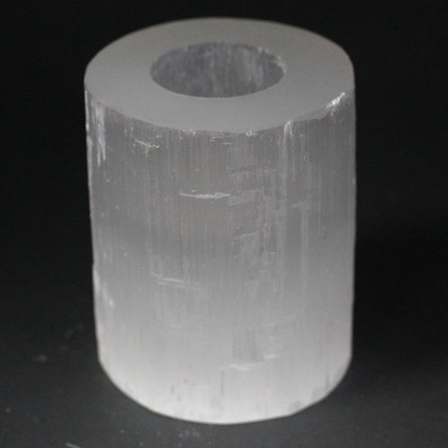 Selenite Cylinder Candle Holder - 10 cm