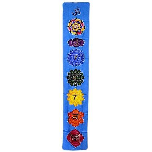 Chakra Drop Banner - Sky Blue 183x35cm