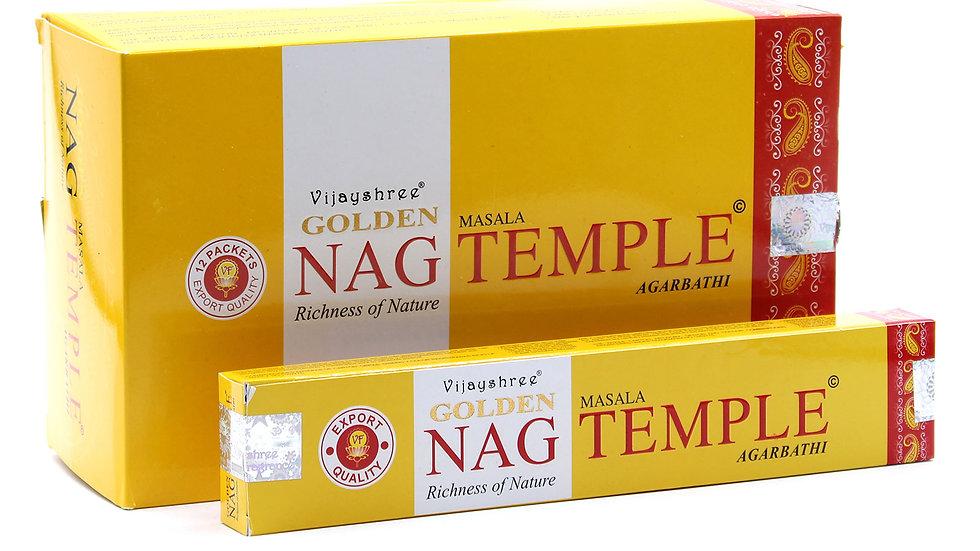 15g Golden Nag - Temple Incense