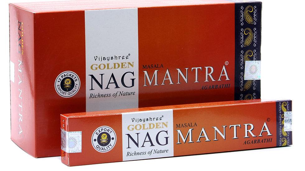 15g Golden Nag - Mantra Incense