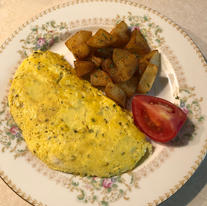 Herbed Omelette with Bombay Potatoes