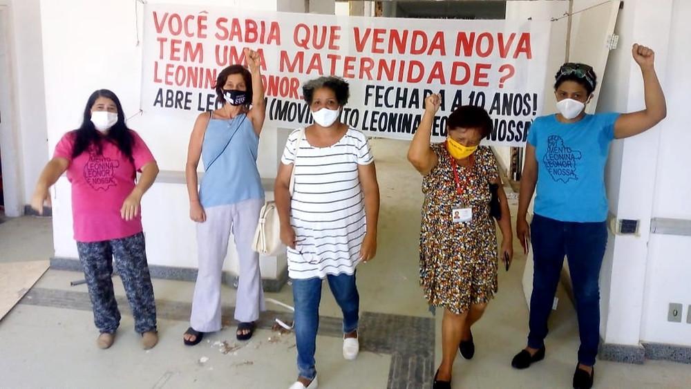 Rosa Maria Goreth, Sônia Lansky, Mônica Aguiar, Maria da Glória e Maria Lina, as mulheres do Movimento Leonina Leonor é Nossa