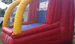 Inflatable double shot basketball
