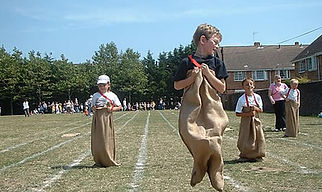 carnival games sack race