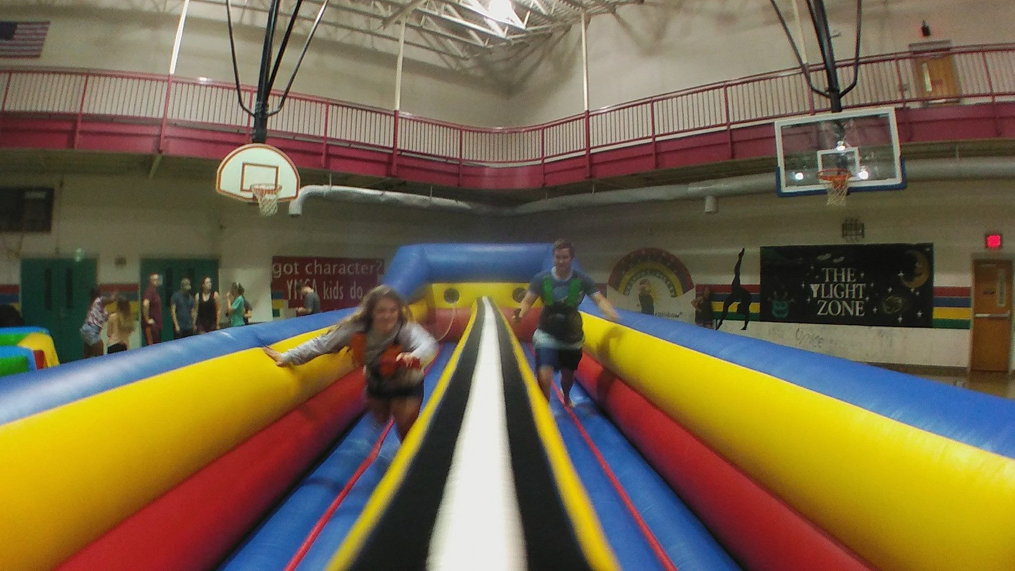 Inflatable 2 Lane Bungee Run