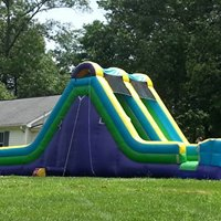180 degree inflatable water slide