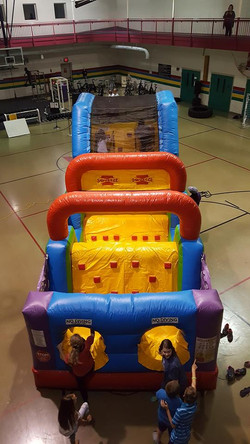 Inflatable wacky jr. obstacle course