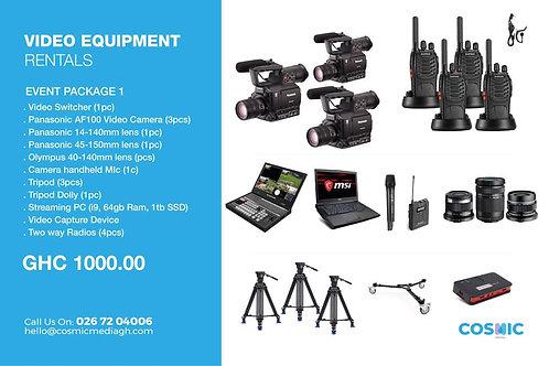 Video Equipment Rental Package