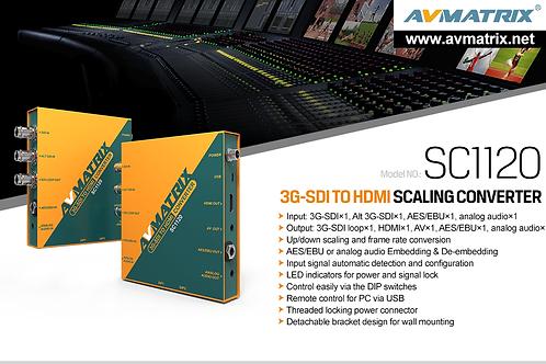3G-SDI to HDMI & AV Scaling Converter