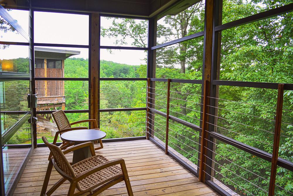 View, balcony, cabin, luxury retreat, luxury cabins, couples escape, romantic getaway, blue ridge mountains