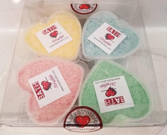 Bath Balm (Medicated & Moisturizing Bath Bombs) 4 pack, Struthio