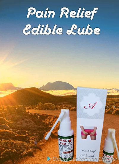Pain Relief Flavored Lube  (Edible)  1oz with Applicator