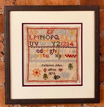 Cross Stitch Sampler Picture Frame