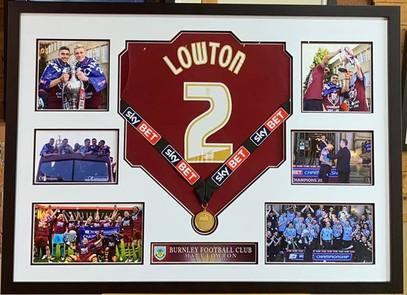 Matt Lowton Burnley Football Shirt Frame