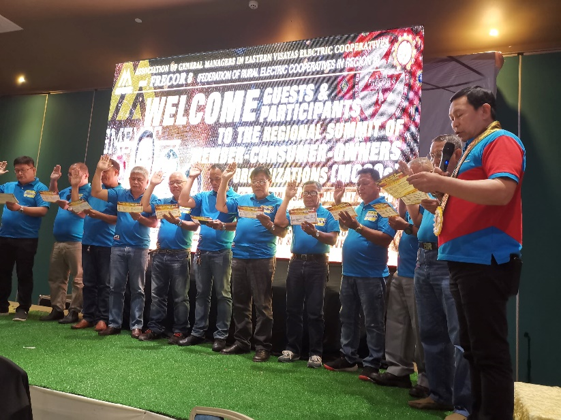 Masongsong leads Oathtaking of newly-elected Eastern Visayas MCOO Officers