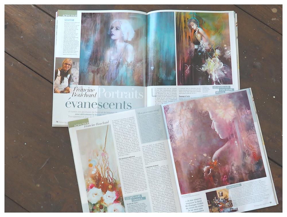 Rubrique ''Rencontres acrylique'' p.78 à 81