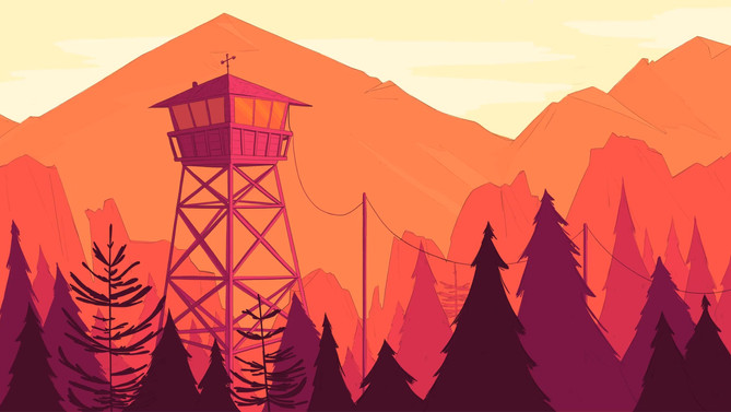A fanart based on the videogame Firewatch